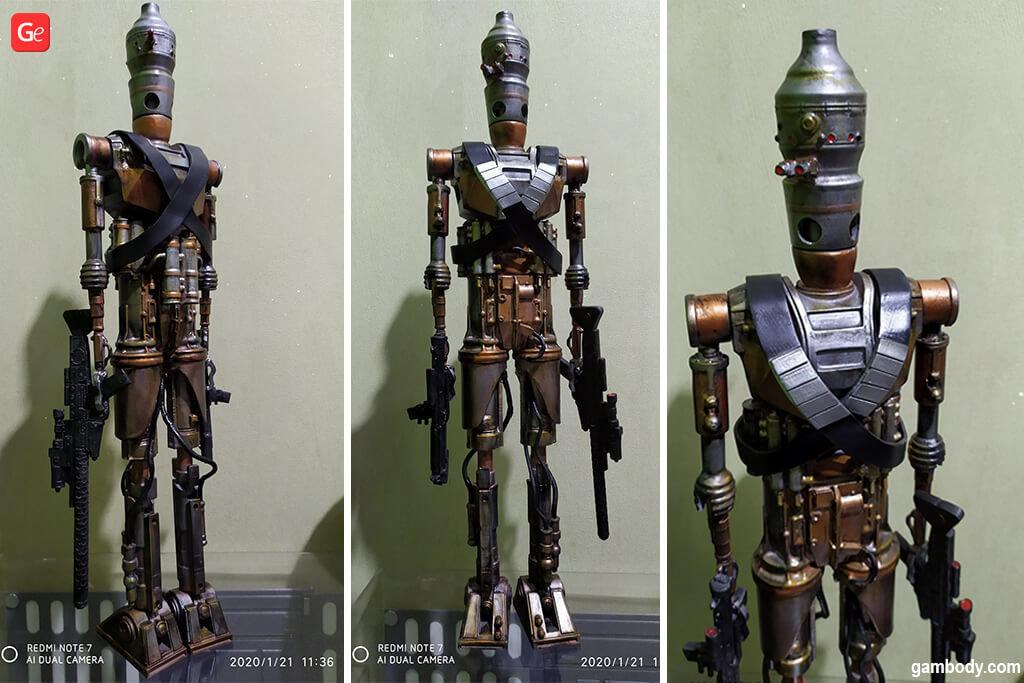 Mandalorian Droid IG-11 3D model for 3D printing