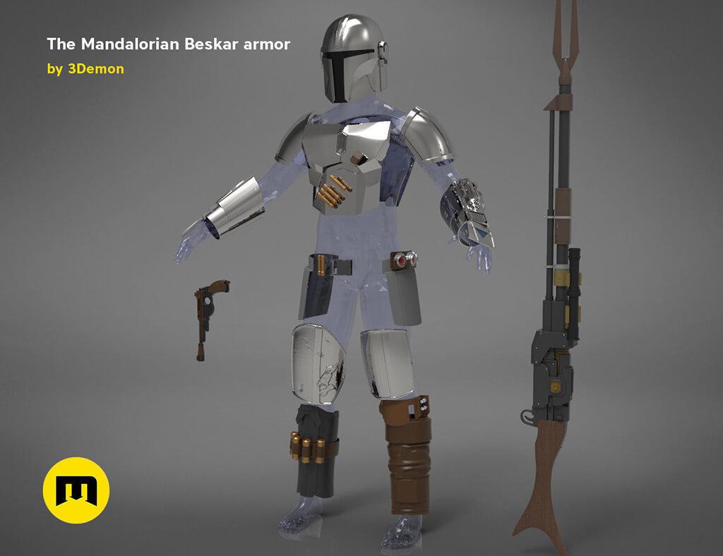 Mandalorian armour for 3D printing