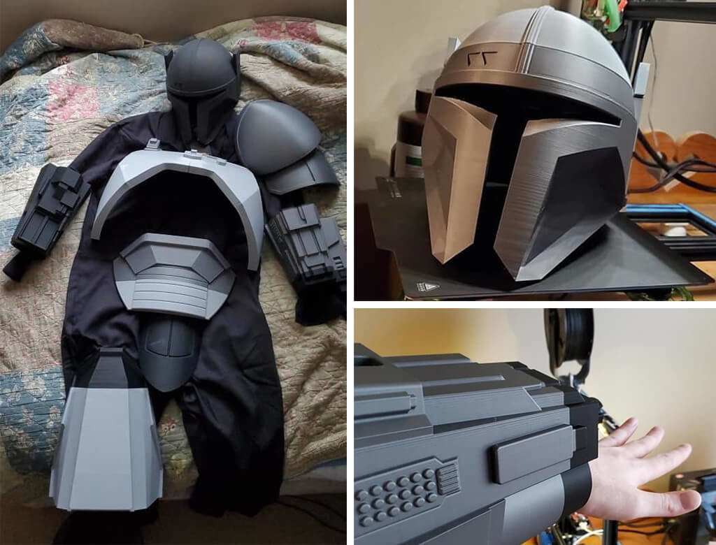 Mandalorian armour for cosplay 3D printed