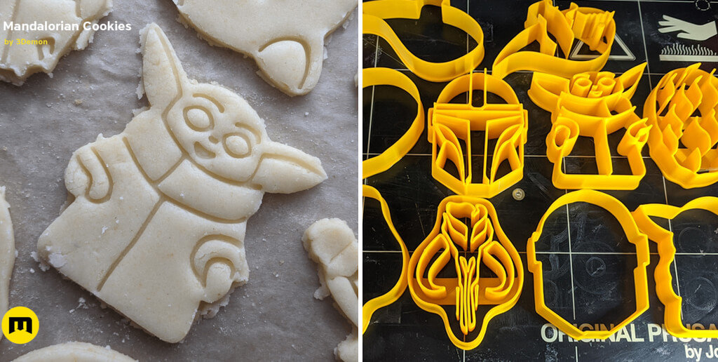 Mandalorian cookie cutters 3D models for printing