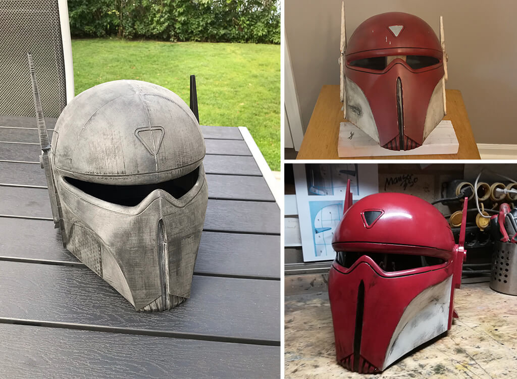 Imperial Super Commando helmet 3D printed