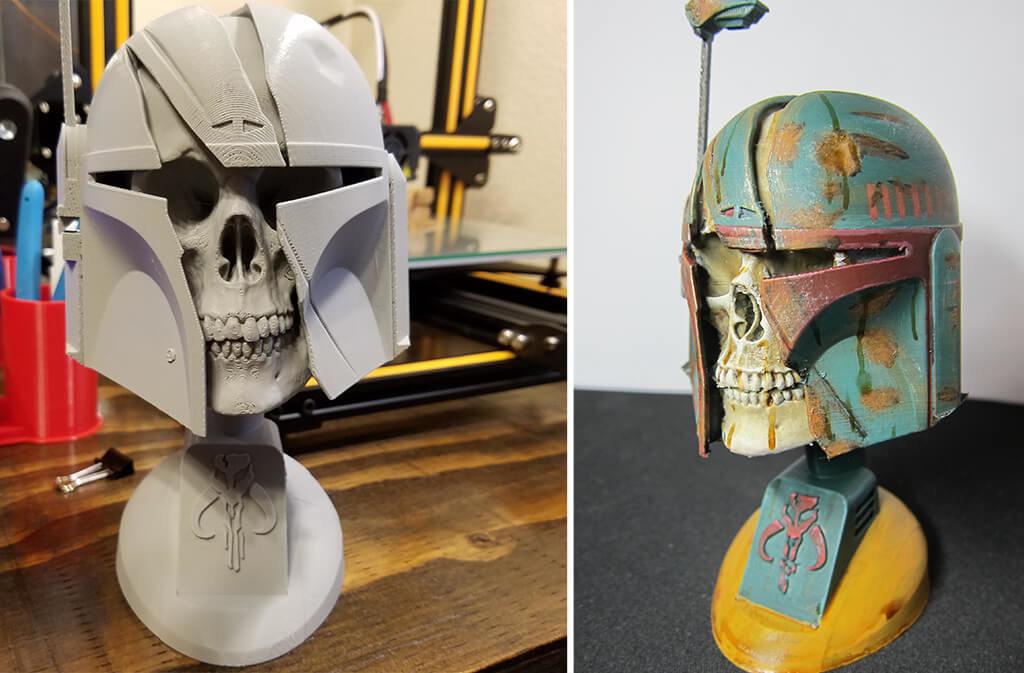 Mandalorian trophy 3D model for printing