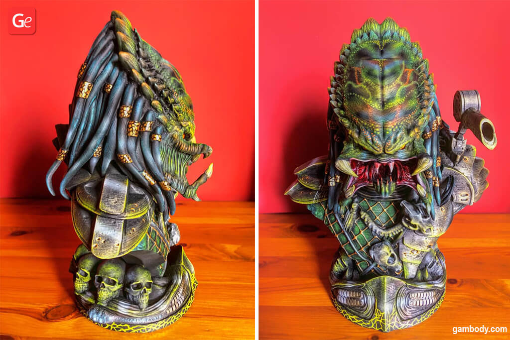 Predator Bust awesome 3D printed projects of 2020