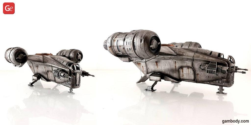 Razor Crest replica 3D printed