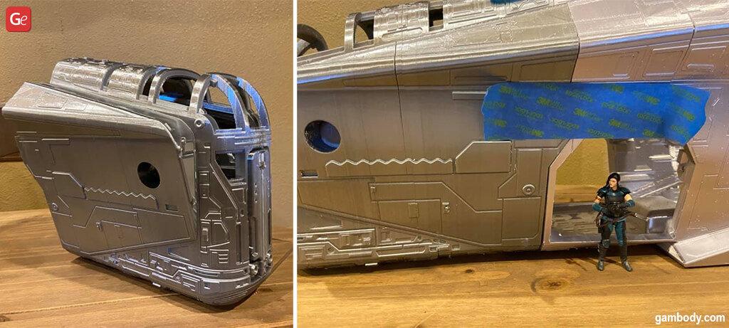 Mandalorian spaceship model Razor Crest for 3D printing
