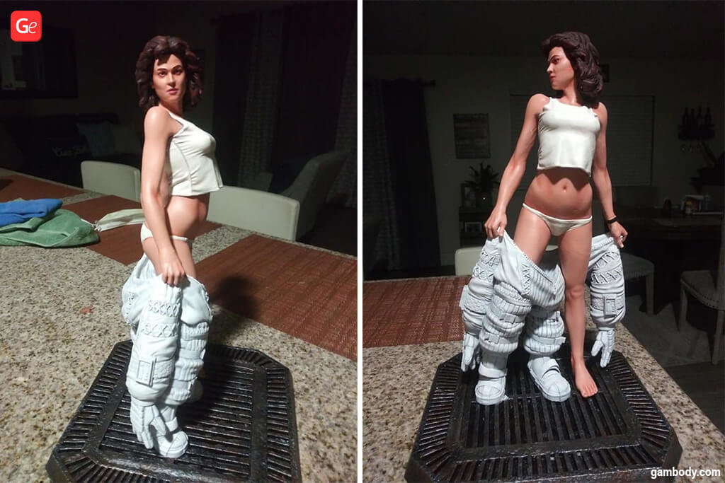 Ripley Alien figurine awesome 3D printed projects