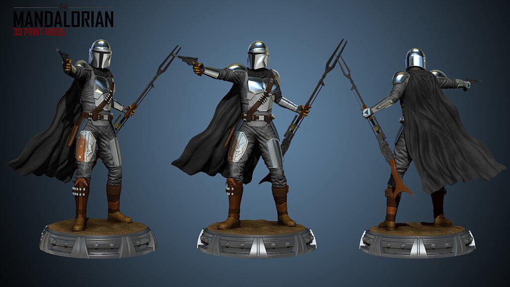 The Mandalorian model for 3D printing