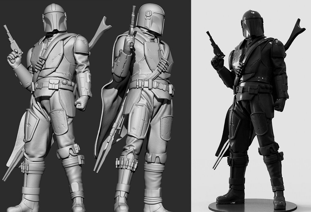 Din Djarin figurine for 3D printing