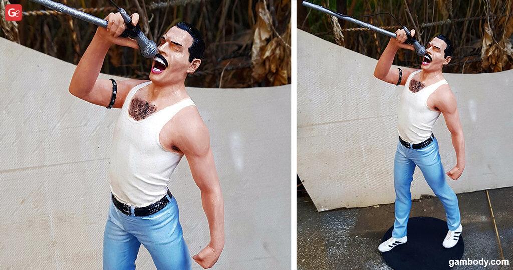 Freddie Mercury cool things to 3D print in 2020