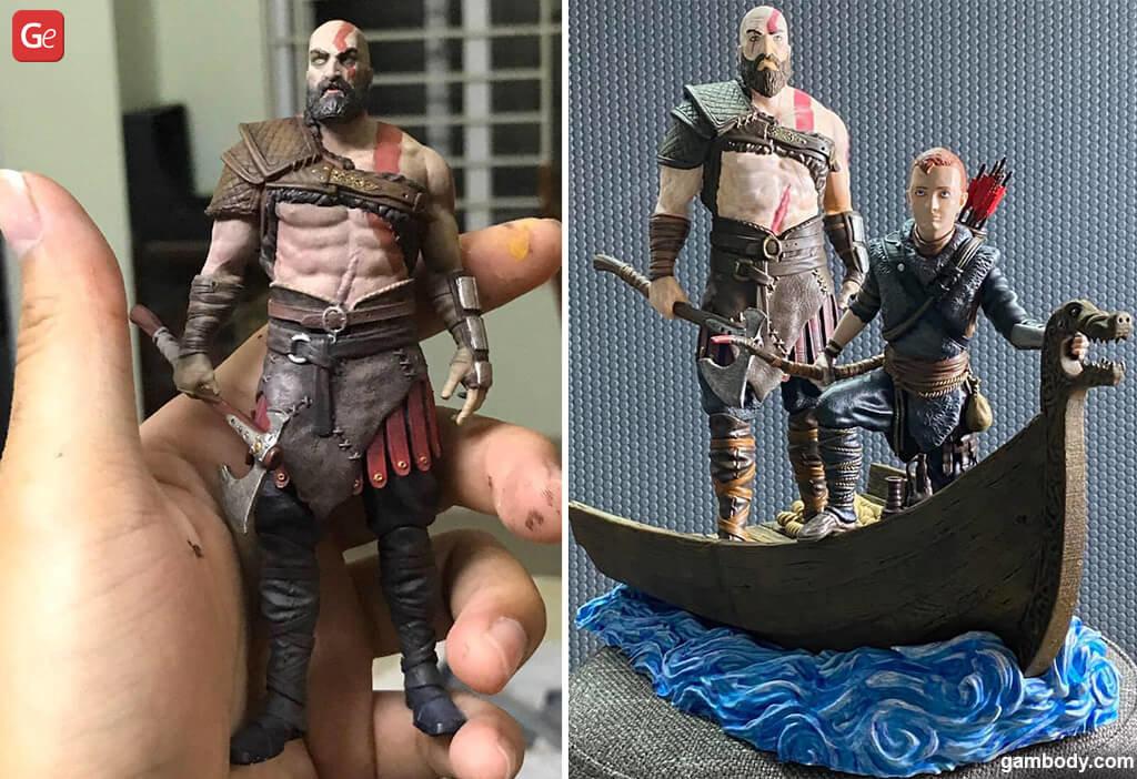 Grumpy old Kratos and Atreus best models to 3D print