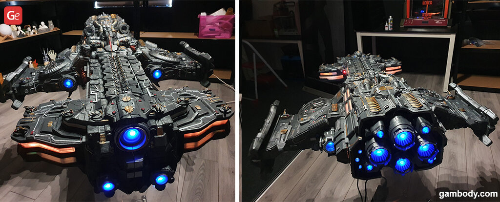 Terran Battlecruiser cool things to 3D print in 2020
