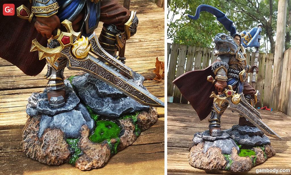 Painting Varian Wrynn 3D printed sword