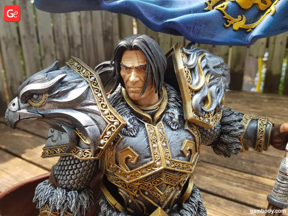 How to paint face of Varian Wrynn 3D print