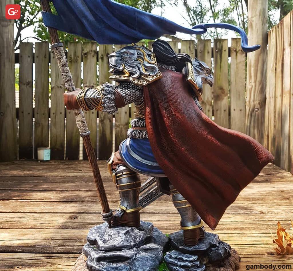 World of Warcraft Varian Wrynn model 3D printed