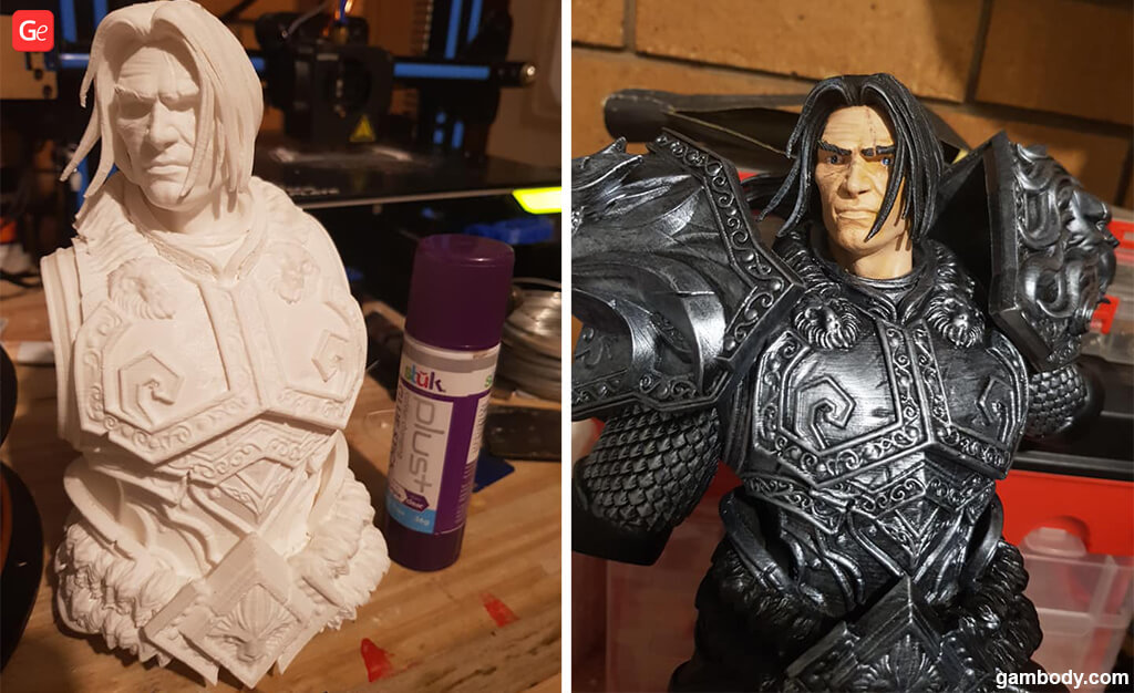How to 3D print and paint WoW models Varian Wrynn King