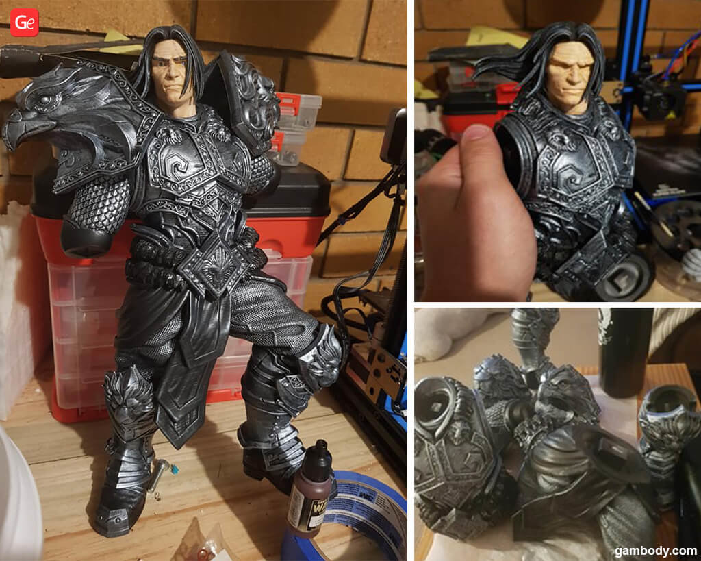 Painting 3D printed model tips and secrets Varian Wrynn