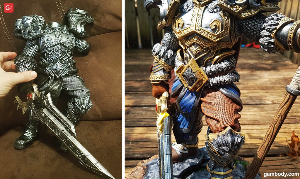Painting a 3D printed model of Varian Wrynn from WoW