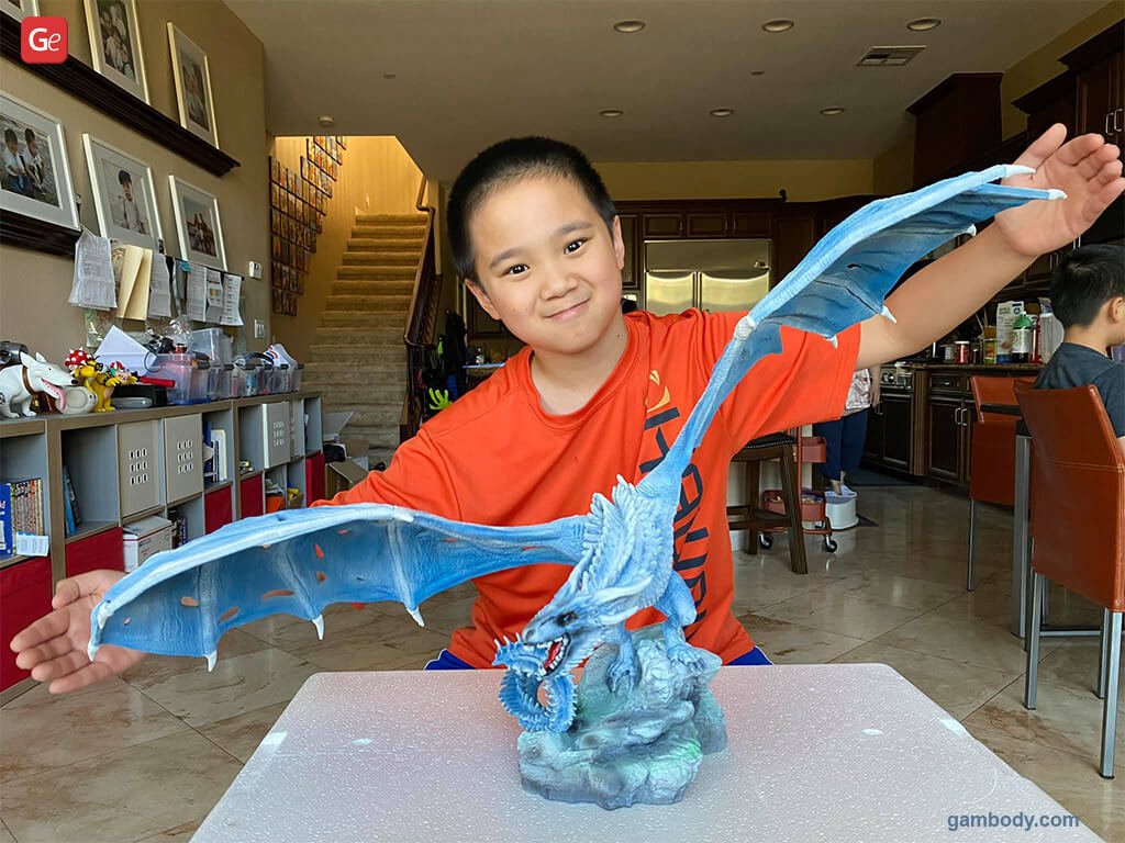 Viserion dragon cool things to 3D print