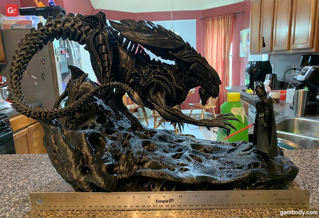 Alien Queen vs Darth Vader top 3D printing models
