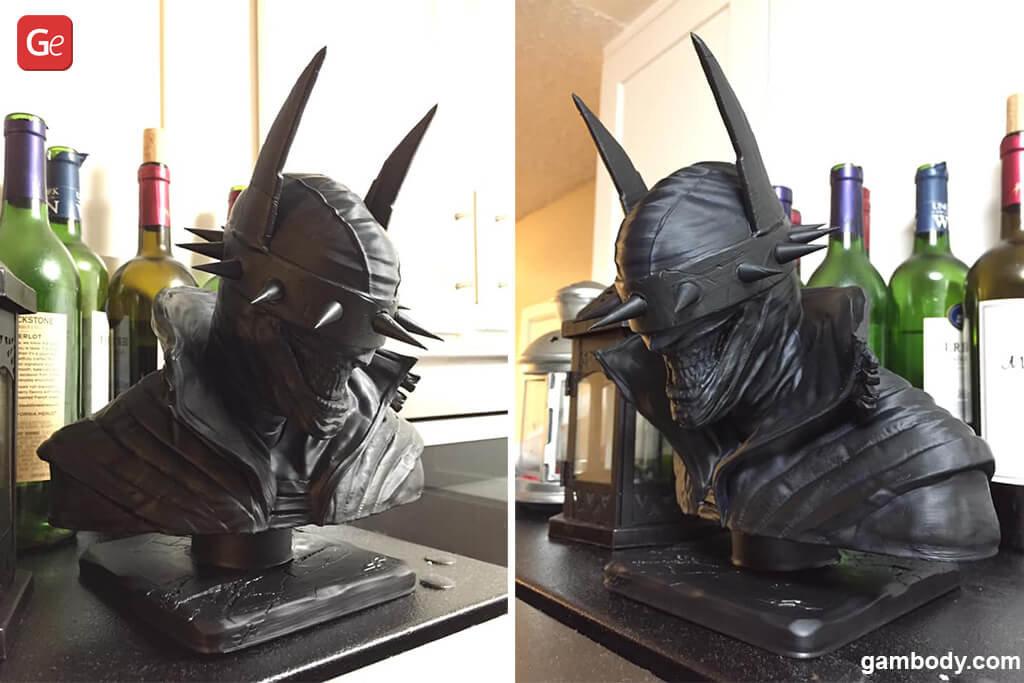 Batman Who Laughs 3D printed bust