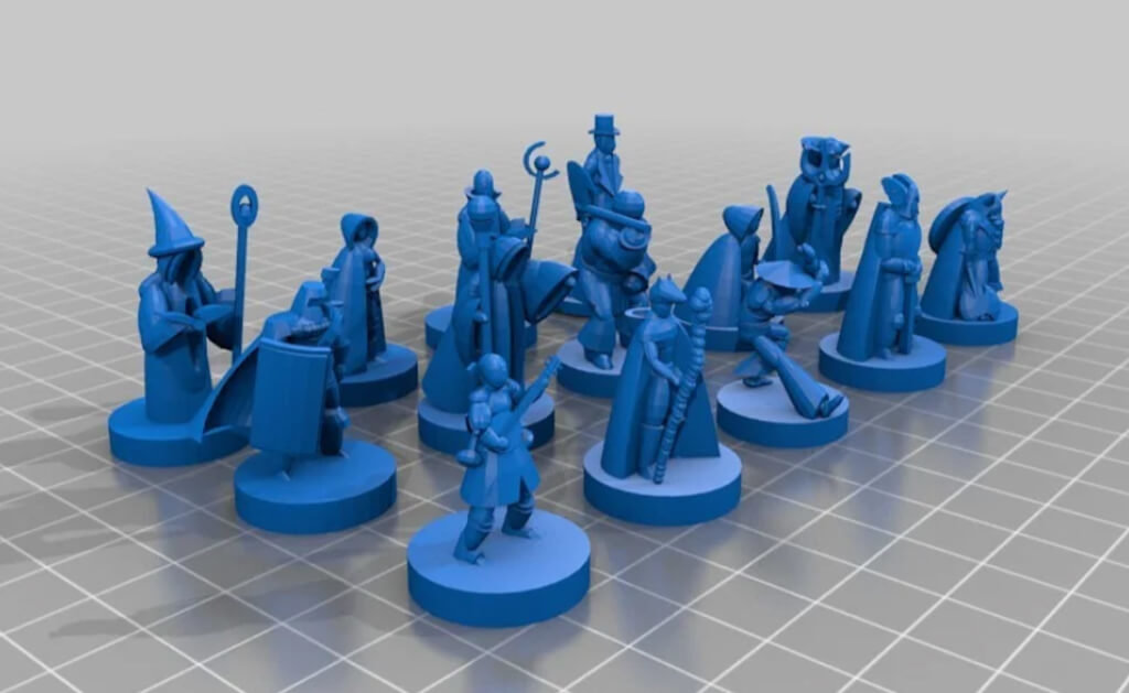 Dungeons and Dragons miniature models for 3D printing