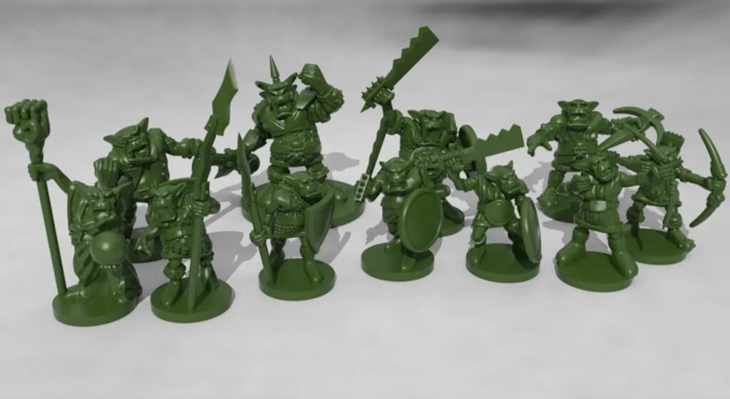 Dungeons and Dragons orc horde models to 3D print