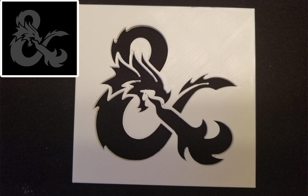 D&D logo for 3D printing stencil