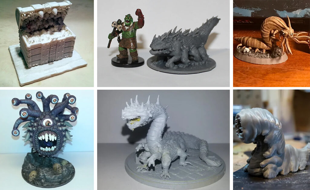 Dungeons and Dragons monsters models to 3D print