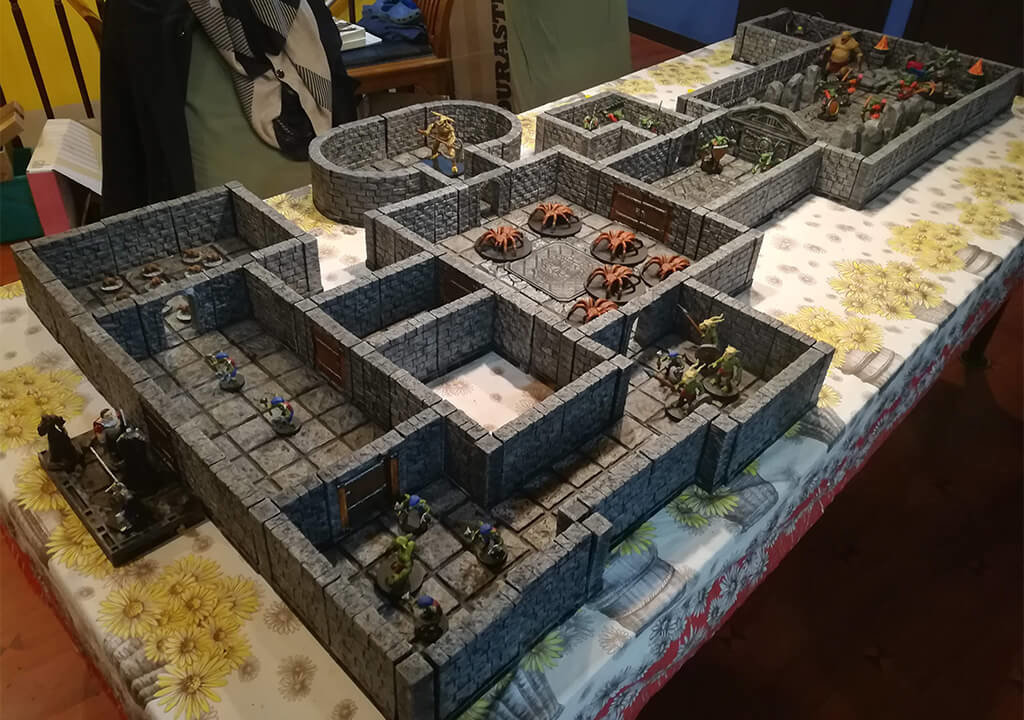 3D printed Dungeons and Dragons models terrain