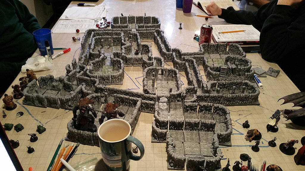 3D printed dungeons for tabletop game