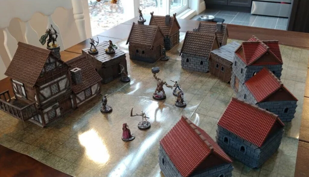 Medieval village Dungeons and Dragons models to 3D print