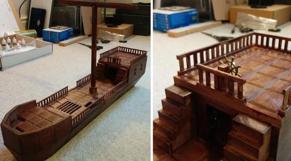 3D printing ship as D&D terrain
