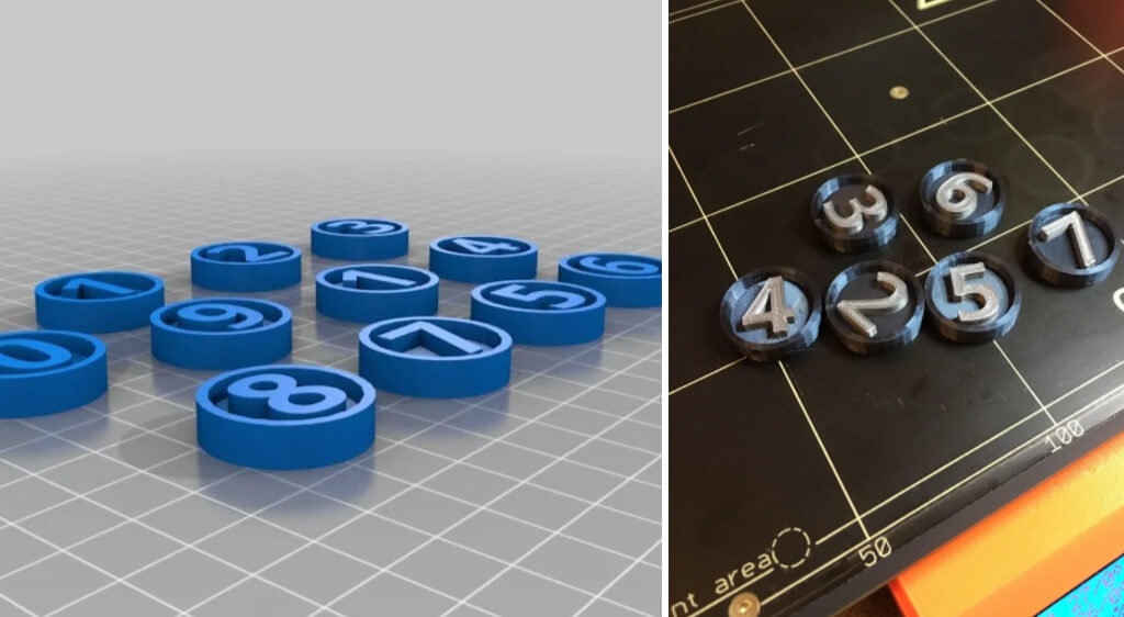 Numbered D&D tokens to 3D print
