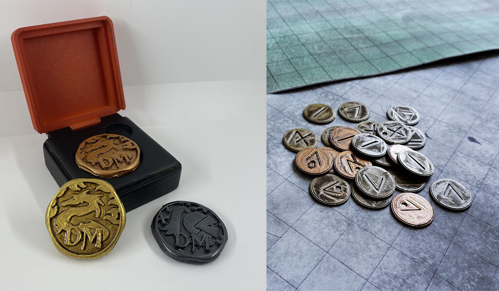 Dungeons and Dragons coins for 3D printing