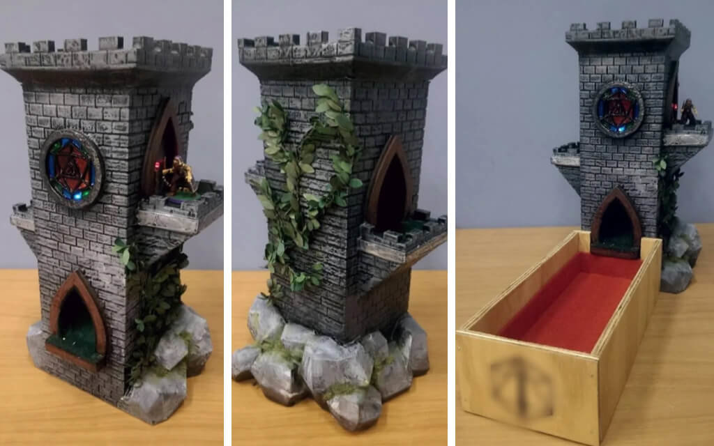 Dungeons and Dragons dice tower models for 3D printing