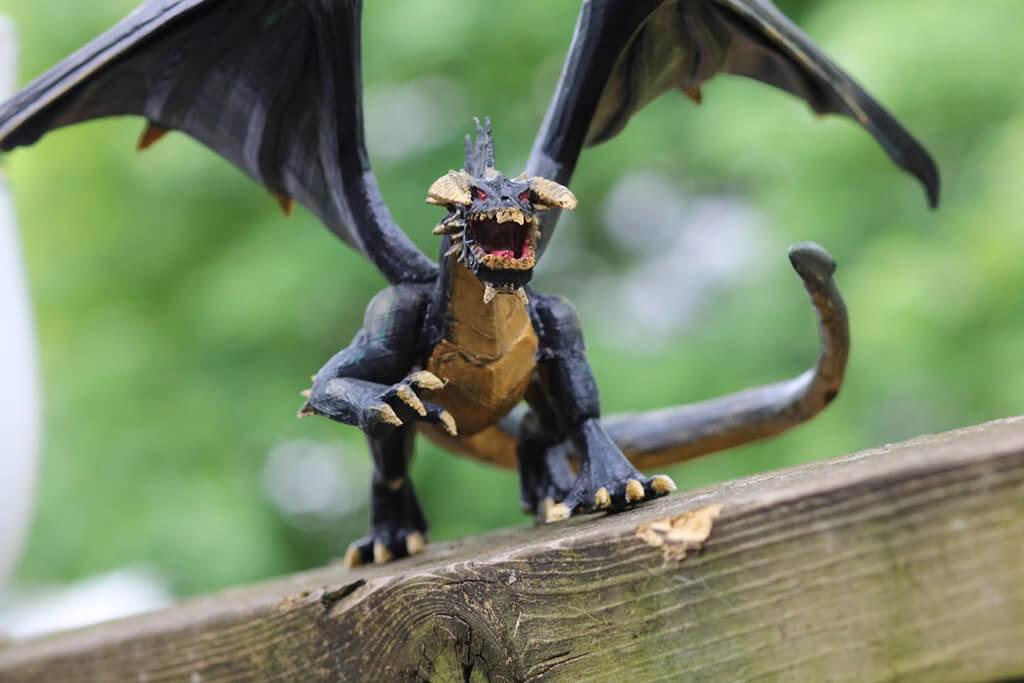 D&D black dragon 3D printing figurine