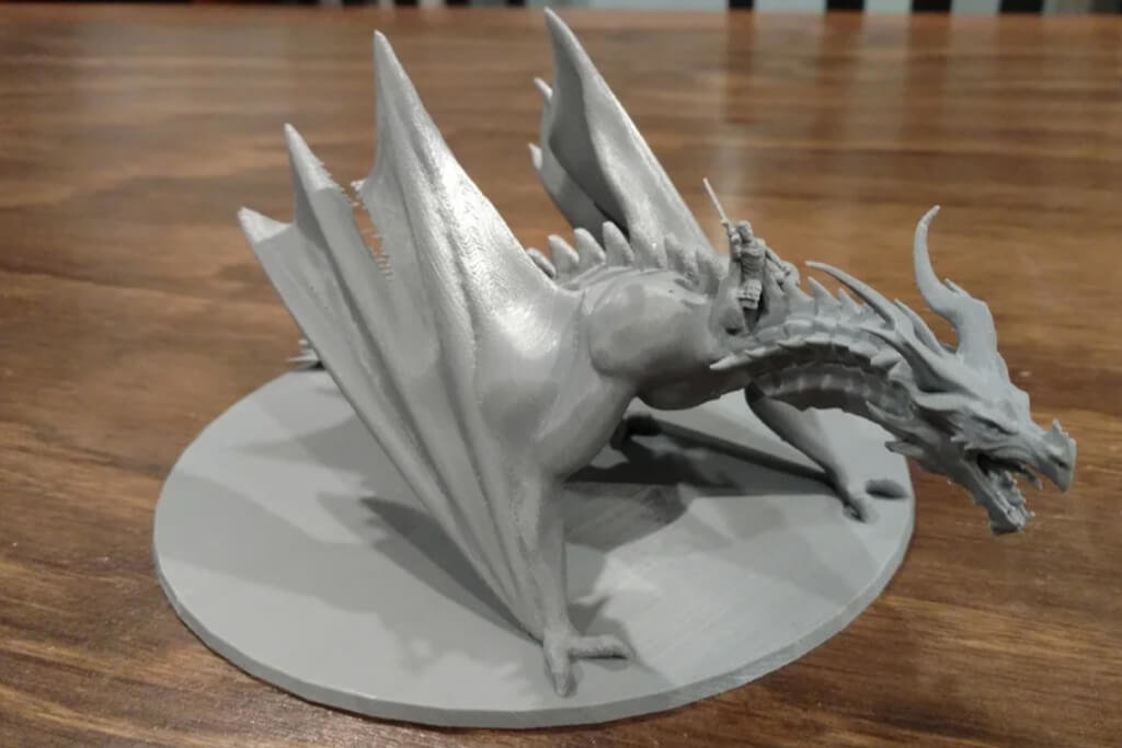 3D printing dragon miniature for Dungeons and Dragons