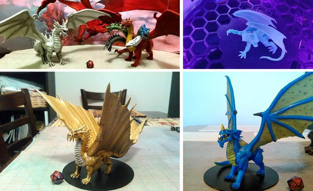 D&D dragon models to 3D print