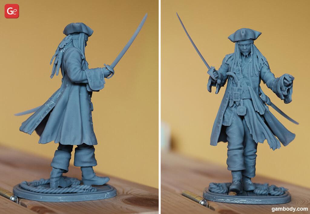 Jack Sparrow 3D print Pirates of the Caribbean
