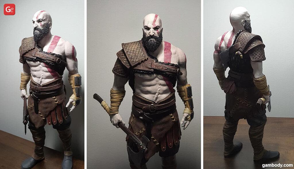 Kratos God of War 3D model to print