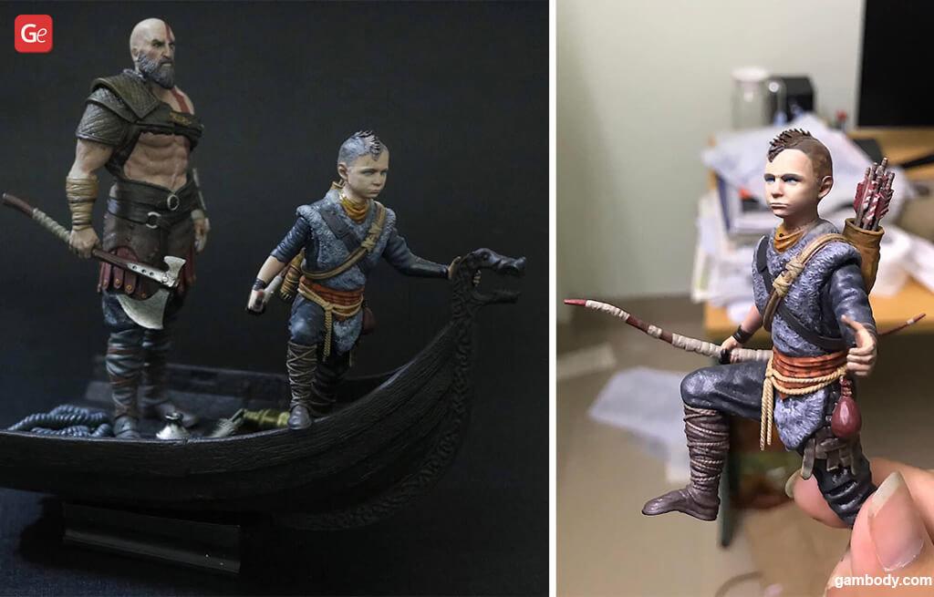 Kratos and Atreus God of War best models for 3D printing