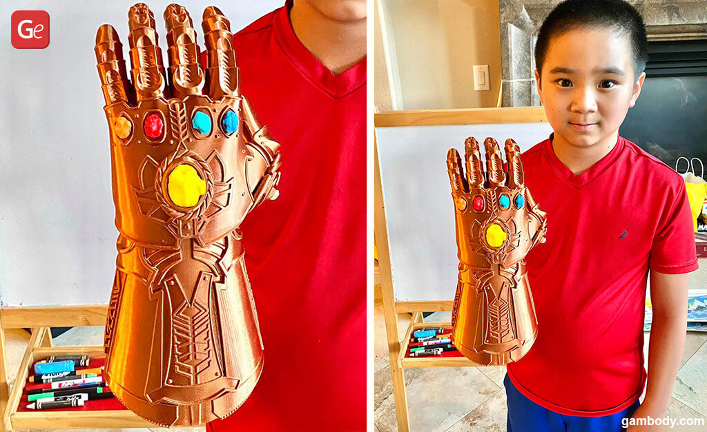 Thanos Infinity Gauntlet top model for 3D printing
