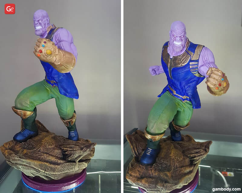 Thanos in action 3D printed figurine