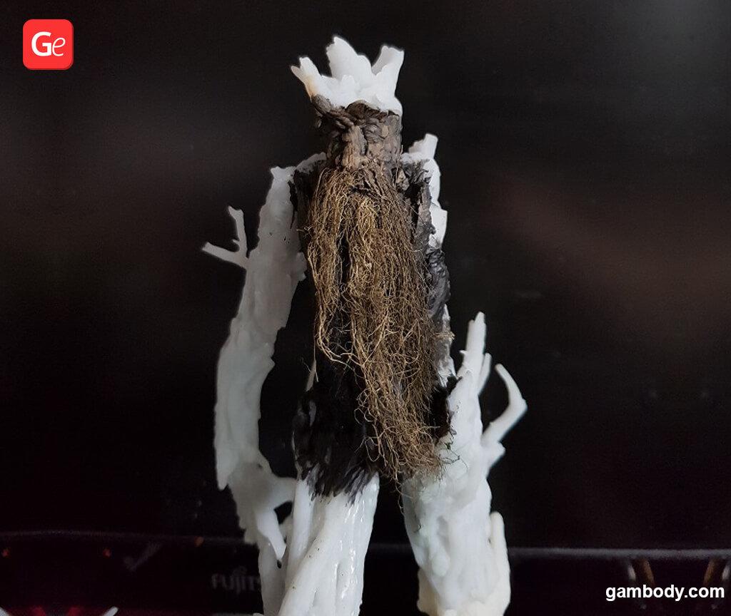 Moss fibres for decorating Treebeard 3D print model