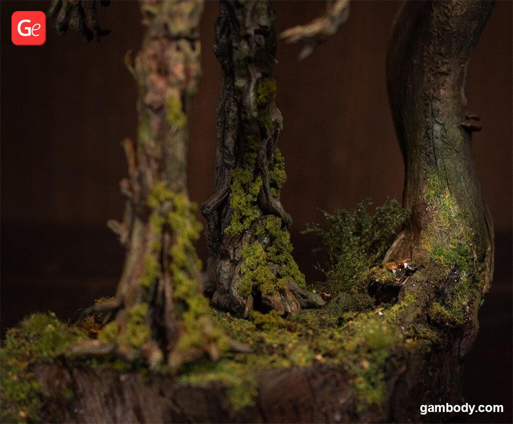 How to make moss effect on 3D printed Treebeard model