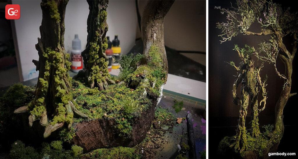 How to paint 3D printed model Treebeard
