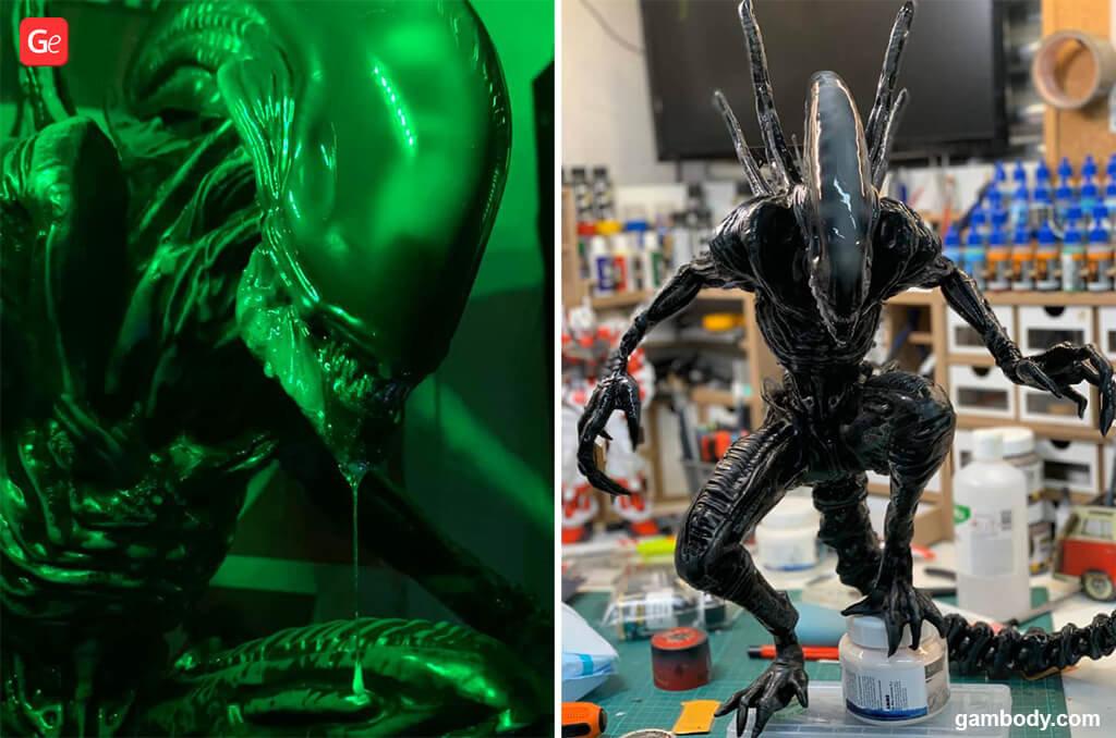 Alien Xenomorph Halloween 3D prints