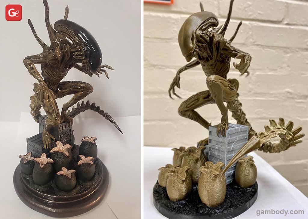 Alien Xenomorph popular models to 3D print