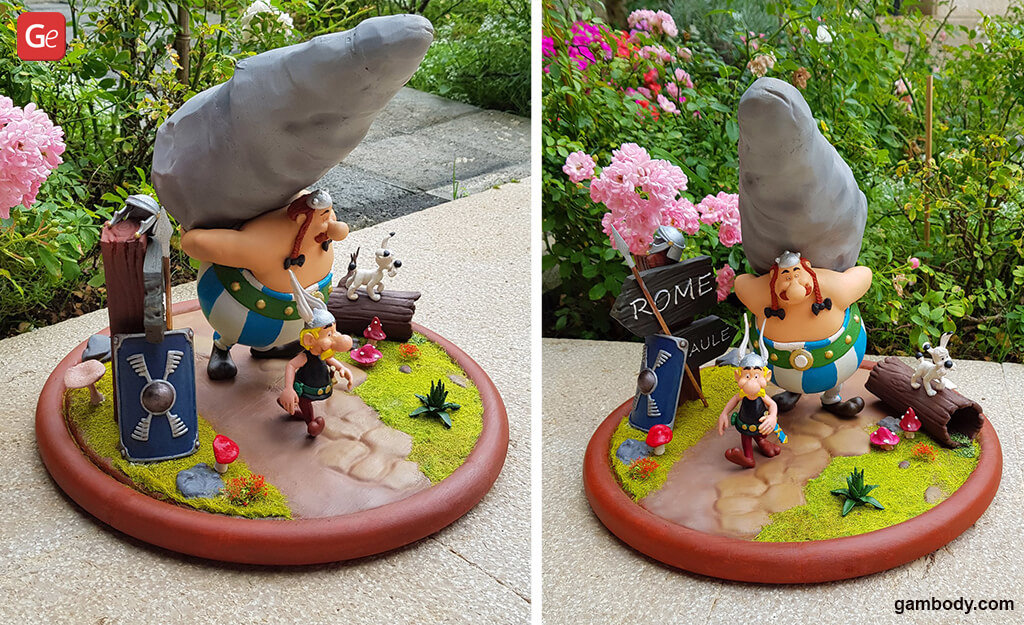 Asterix and Obelix figurines for 3D printing