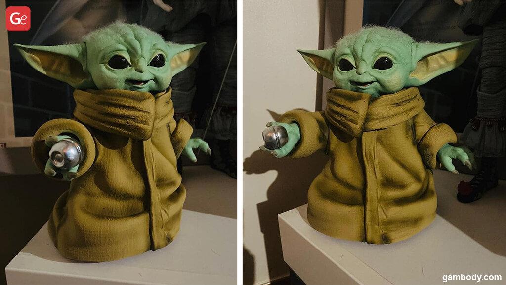 Baby Yoda popular 3D print models of August